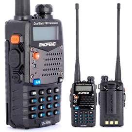 Kit X 2 Handy Walkie Talkie Baofeng Uv5r 50km Vhf Uhf Auri 3.000