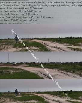 Terreno 250 m2 Playas Villamil a 5 min del Mar