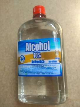 Antiseptico alcohol al 70% de concentración etanol-unidad litro $8.000- unidad medio litro $5.000.