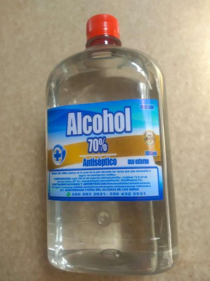Antiseptico alcohol al 70% de concentración etanol-unidad litro $8.000- unidad medio litro $5.000. 0