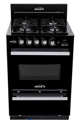 Estufa Abba de piso con horno Master Chef gas propano Vidrio negro