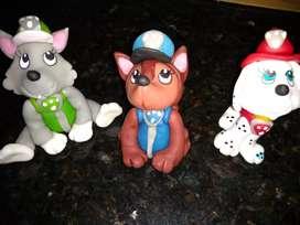 Muñecos porcelana fría para torta paw patrol