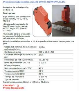 Protección Sobretensión clase III 24V UC R24V/4KV AC/DC