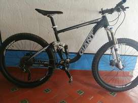 Bicicleta dible suspension giant trance x,