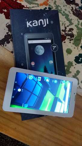 Celular tablet Kanji modelo Yubi doble chip libre de 7 pulgadas