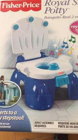 Fisher Price Trono musical - entrenamiento a ir al baño. Muy poco uso.