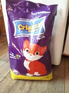 Alimento para gatos (abierto)