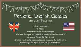 Clases personales de inglés.