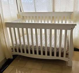 Cuna para Bebe Blanca de Madera