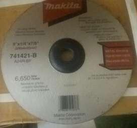 Lote Discos Pulidora Makita Abraspulir Metal A24RBF 9x1/4x7/ 8 Makita