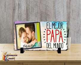 Porta Retrato/ Foto Roca Personalizado dia del Padre