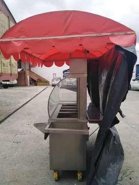 Se vende carreta d hamburguesa y salchipapas hot dog se vende con cableado de luz de 20 metros y más