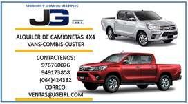 ALQUILER DE CAMIONETAS 4X4 EN JUNIN , ALQUILER EN HUANCAYO CAMIONETAS , VAN, COMBIS ,CUSTER  ALQUILER EN JAUJA