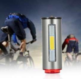 bicicleta luz trasera aluminio USB