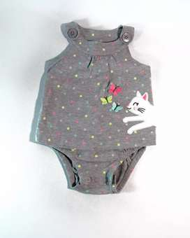 Mameluco gris para bebé/niña