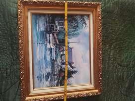 Litografias estilo cuadros al oleo enmarcadas