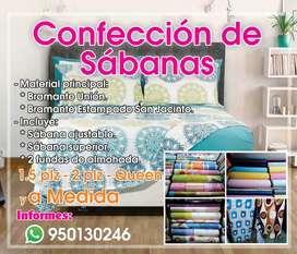 Confección de sábanas