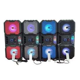 Cabina Sonido Bluetooth Kts 1148 Fm Tf Usb Mic Led Parlante Control