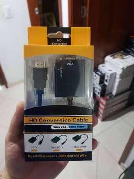 Adaptacdor De HDMI a VGA Con Entrada De Audio
