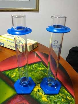 Probeta de Vidrio Base Plastica