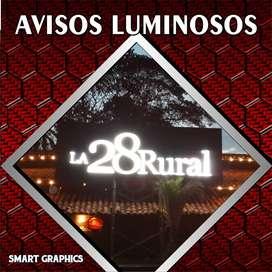 AVISOS LUMINOSOS CAJAS DE LUZ ACRILICO ROMPETRAFICO PUBLICIDAD PALMIRA CALI SMART GRAPHICS PLEGABLES