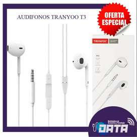 AUDIFONOS TRANYOO T3 3,5 MM