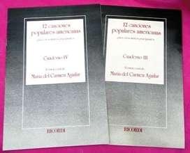 12 CANCIONES POPULARES AMERICANAS CUADERNOS III Y IV