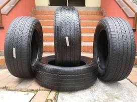 4 llantas marca Bridgestone ref 245/60 R 18, rin 18, llantas rin 18, ref 245/65 R 18.