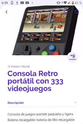 Consola retro portátil con 333 videojuegos