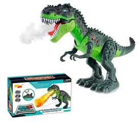 Dinosaurio juguete. Luces, sonido, movimiento y vapor