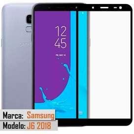 Vidrio Templado Glass 5d 6D FullCover Premium Samsung A8 2018 J6 2018
