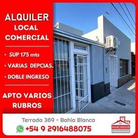 ►MANCISIDOR PROP◄ Salon comercial DOBLE - Villa Mitre - 200 mts -