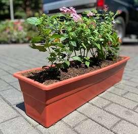 Jardinera plástica 80 cm
