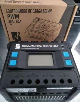 CONTROLADOR DE CARGA PWM 12/24- 60A  MARCA CARSPA