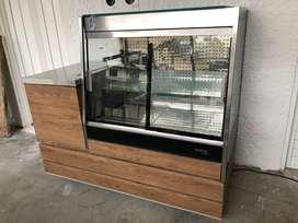 Nevera refrigerador mostrador frontal