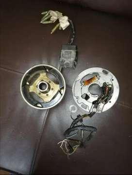 Cdi, volante, plato bobinas, para dt 125