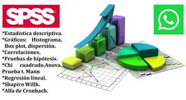 ANÁLISIS SPSS, R STUDIO, R PROJECT, STATA