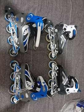 Vendo 2 pares de rollers  (boissy el más grande ) (senhay el más chico) poco uso casi nuevos(
