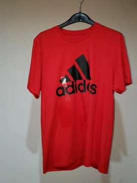Camiseta adidas roja L envio gratis