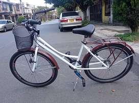 Bicicleta Playera Rin 26 Con Cambios - Blanca