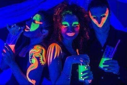 Pinturas neón fosforescente fiestas electrónicas,quinseaños ,infantil 0
