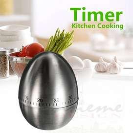 Temporizador Alarma Minuto Cocina - Huevo Acero