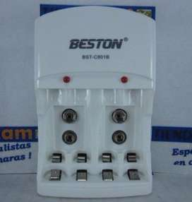 Cargador Beston Bstc801b SOLO Sin pilas Para cargar Baterias Aa Aaa 9v