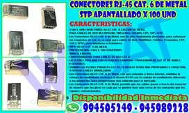Conectores Rj-45 Cat. 6 De Metal Stp Apantallados x 100 UND