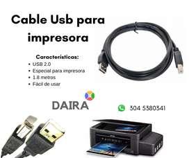 Cable Usb para impresora de 1.8m