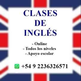 CLASES PARTICULARES DE INGLÉS (TODOS LOS NIVELES)