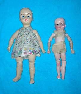 Muñeca antigua de pasta lote dos