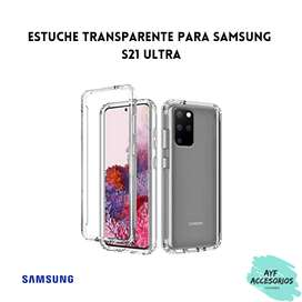 Estuche Para Samsung S21 ULTRA Transparente Rígido