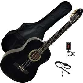 Guitarra Clásica Criolla Parquer con Funda y accesorios nuevas