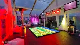 ALQUILER TRUSS PISTA LED CABEZAS MOVILES SONIDO  DJ ARRAY BINGO KARAOQUE TARIMA CARPAS  FIESTAS PANTALLA LED ASAMBLEAS